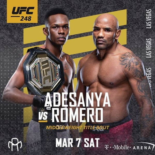 UFC 248<br>Adesanya vs Romero